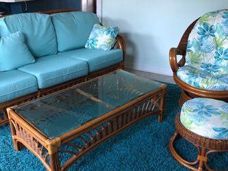 Leaders Tropical RATTAN 4 Piece Sofa Set for Sale in St. Petersburg,  FL