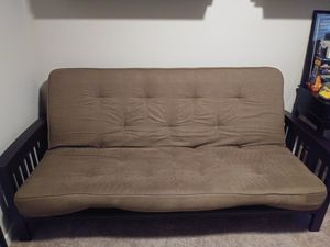 Futon with wood frame for Sale in Tacoma, WA