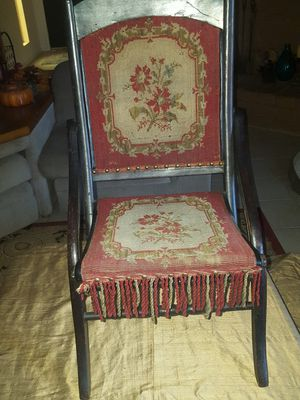 Antique Victorian Folding Tapstry Chair for Sale in Clovis, CA