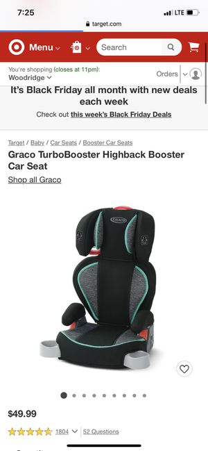 Graco TurboBooster Highback Booster Car Seat for Sale in Westerville, OH