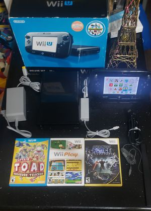 Nintendo Wii U 32GB with 6 Games for Sale in Long Beach, CA