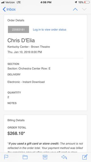 Chris D'elia tickets (comedian) for Sale in Piney Flats, TN