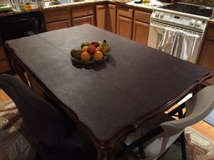 Kitchen table beautiful with custom cover for Sale in Hayward, CA