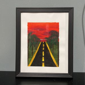 Vacation Road Painting 8x10 Frame Included for Sale in Baldwin Park, CA