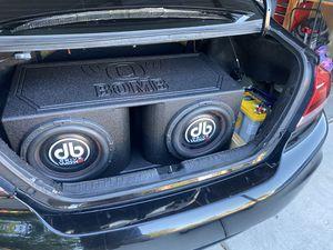DB DRIVE WDX G2 SUBS, Q-BOMB BOX, OPTIMA BATTERY, DB DRIVE WDX 3k amp for Sale in Tracy, CA