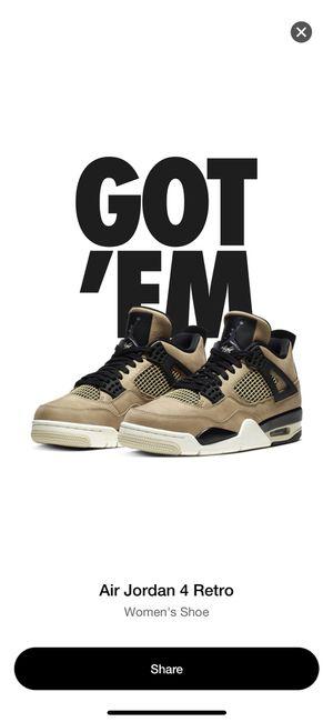 Jordan 4s mushroom fossil 4s size 8 men women shoes limited for Sale in Rockville, MD