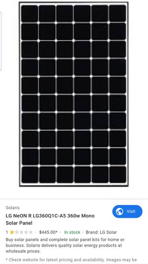 LG 360W SOLAR PANELS for Sale in Tracy, CA