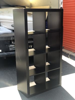 Black TV stand/bookcase and storage chest for Sale in Lawrence Township, NJ