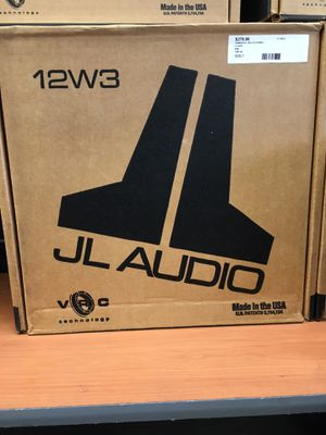 "JL AUDIO 12W3v3-2 Car 12"" SVC 2 ohm W3v3 Series W3v3 Subwoofer 1,000W for Sale in Saugus, MA"