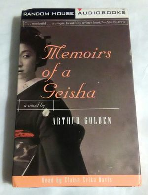 MEMOIRS OF A GEISHA by Arthur Golden Audio Book Read by chance Elaina Erika Davis 2 Cassette Tapes Abridged for Sale in Largo, FL