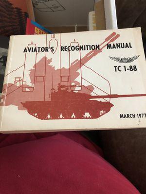 AVIATOR'R RECOGNITION MANUAL for Sale in Cibolo, TX