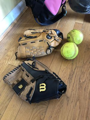 Softball gear and gloves for Sale in McLean, VA