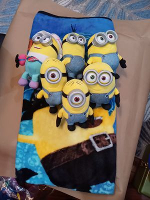 Minion cover and Plushies for Sale in East Chicago, IN