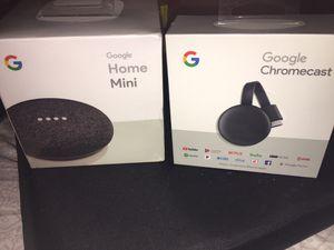 Google home mini and google chromecast for Sale in Everett, WA