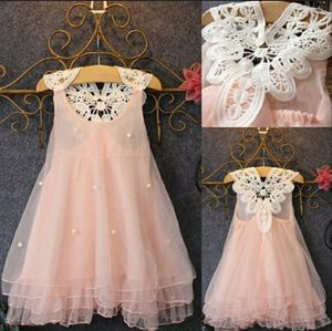 Baby girl princess party dress with pearls. Lace flower casual dress. for Sale in Homestead, FL