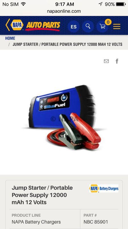 Spokane Used Car Dealerships >> Napa Blue fuel multipurpose portable car battery jump starter/ USB phone charger/ flashlight for ...