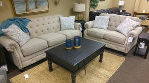 BEAUTIFUL SOFA AND LOVESEAT TUFTED BACK for Sale in Portland, OR