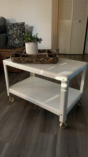 White Rolling Coffee Table for Sale in Beaverton, OR