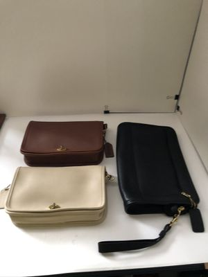Coach Leather: 2 Cross Shoulder & 1 Wrist Bag: Priced Individually. for Sale in Pomona, CA