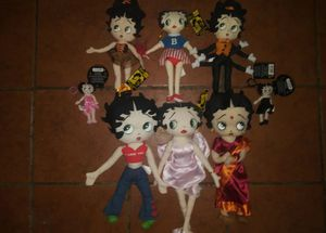 6 Betty Boop plush toys 2 keychains for Sale in Hawthorne, CA