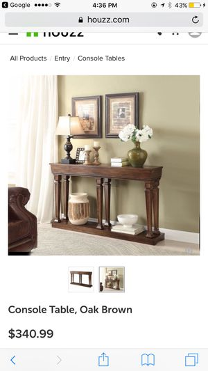 Acme oak console table for Sale in Blacklick, OH