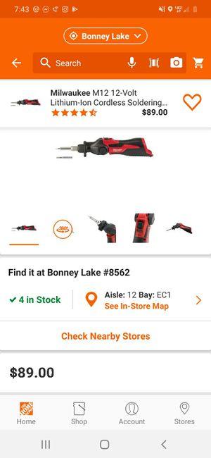Milwaukee m12 soldering iron for Sale in Bonney Lake, WA