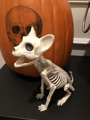 8 inch dog skeleton Halloween decor for Sale in Manteca, CA