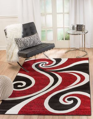 New modern style rug size 8x10 nice red carpet for Sale in Springfield, VA