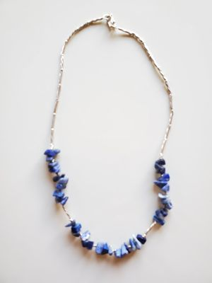 Choker chain sterling silver w/ lapis lazuli . for Sale in Alhambra, CA