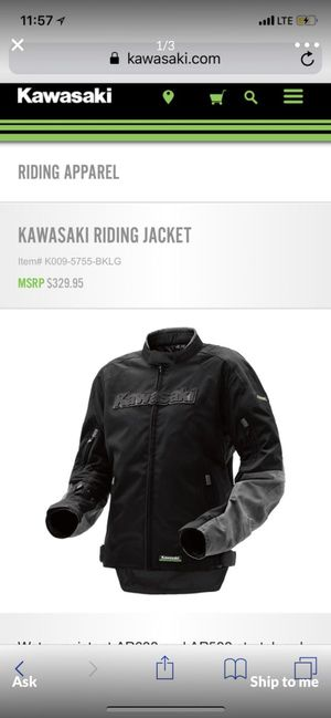 Kawasaki limited edition motorcycle jacket for Sale in Pinellas Park, FL