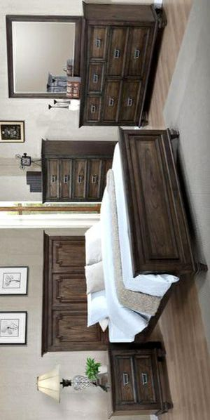 Campbell Brown Panel Bedroom Set for Sale in Silver Spring, MD