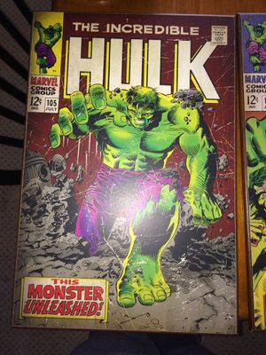 Marvel The Incredible Hulk - #105 wooden wall art poster for Sale in Lakeside, AZ
