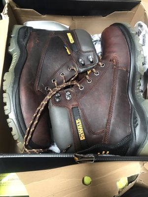 DEWALT Men's Titanium Waterproof Work Boots - Steel Toe - Brown Size 10.5(W) for Sale in Rosemead, CA