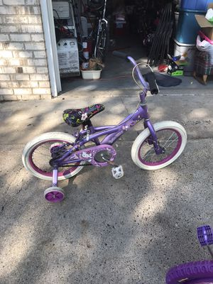 Hello kitty kids bike in good shape tires worn from non-normal wear for Sale in Ramsey, MN