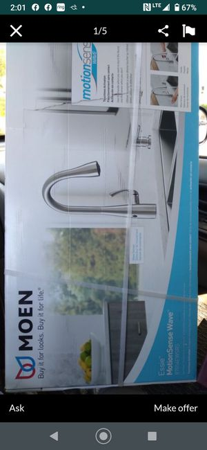 Moen motion sensor faucet new see last picture please for$$$ for Sale in Modesto, CA