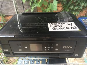 Epson XP 420 printer with two new black ink cartridges for Sale in Detroit, MI