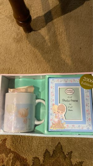 Precious moments mug in the photo frame gets it for Sale in Henderson, NV