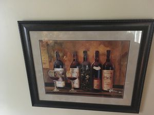 Wine picture framed for Sale in Moline, IL