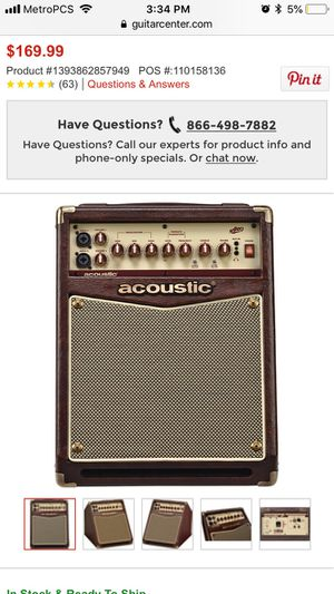 Acoustic guitar amplifier for Sale in Dallas, TX