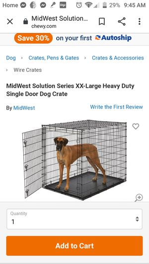 Xlg dog crate for Sale in San Angelo, TX