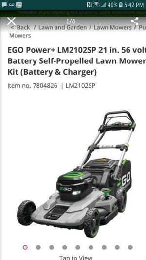 EGO Battery Self-propelled LAWN MOWER for Sale in Montebello, CA