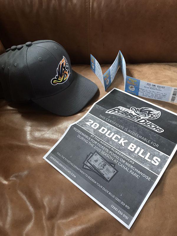 4 Rubber Duck Tickets, 4 Hats, plus $20 concession/merchandise