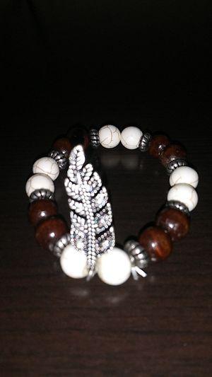 Diamond feather pendant bracelet for Sale in Houston, TX