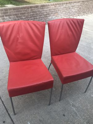 Mid century leather dinning chairs vintage for Sale in Los Angeles, CA