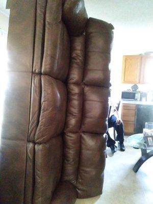 Leather couch n love seat for Sale in Wichita, KS