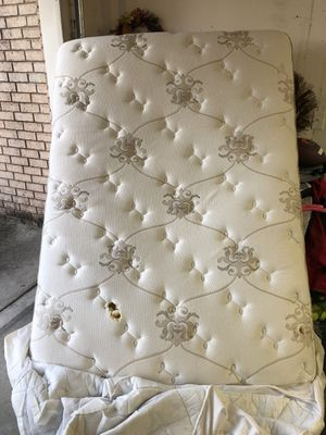 Full size mattress, box spring, and metal bed frame for Sale in Pensacola, FL