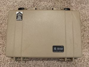 Pelican 1490 case with laptop sleeve and protective foam for Sale in Roseville, CA