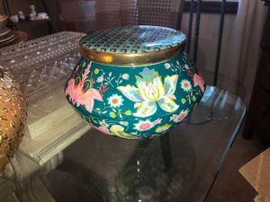 "Liberty for Anthropologie Floral Covered Candle Holder 5.5"" Diameter for Sale in Plainfield, IL"