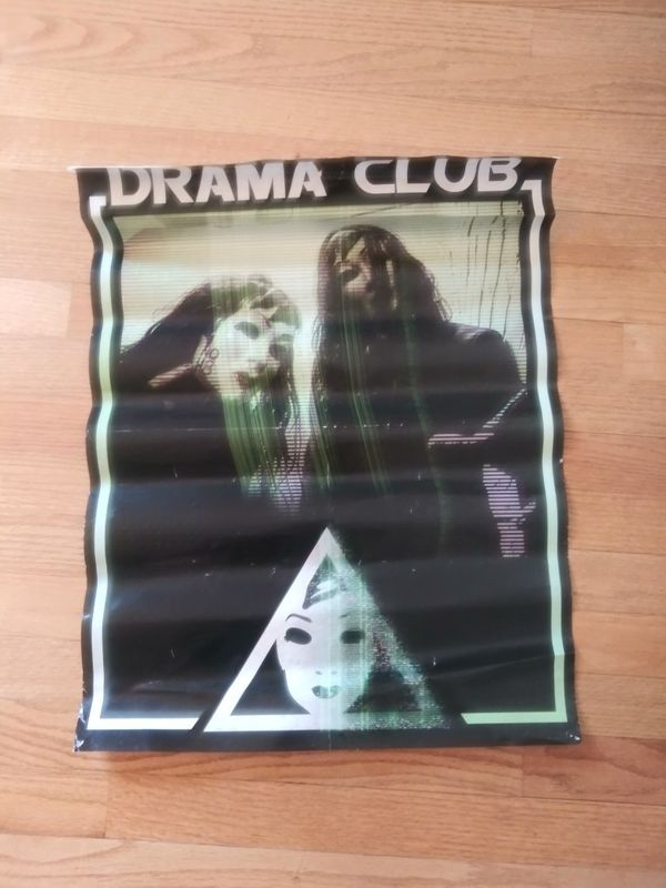 DRAMA CLUB band poster 24x12 (approx)