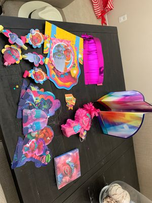 Trolls party decor pack for Sale in Jurupa Valley, CA